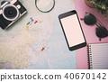smartphone mockup tourist planning vacation  40670142