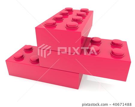 Three stacked toy bricks 40671488