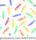 Colorful Pencil Seamless Pattern 40673043