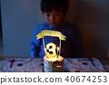 孩子的3岁生日/吹灭生日蛋糕蜡烛 40674253