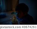 孩子的3岁生日/吹灭生日蛋糕蜡烛 40674261