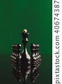Abstract leadership business concept with chess 40674387