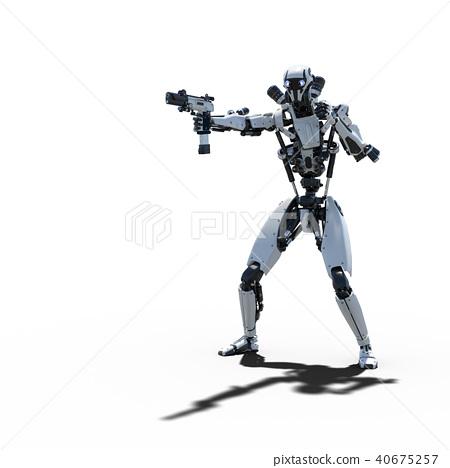 인간형 로봇 perming3DCG 일러스트 소재 40675257