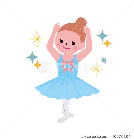 兒童的課程芭蕾舞圖 40676104