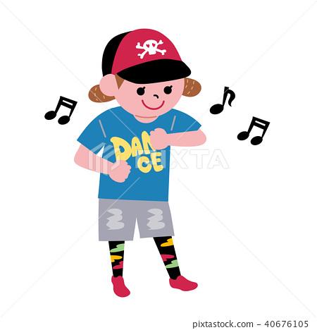 어린이 습관 키즈 댄스 일러스트 40676105