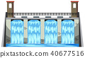 A Big Dam on White Background 40677516