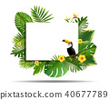 Jungle or Zoo Themed Animal Background. 40677789