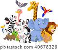 Cartoon wild animals background 40678329