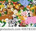 Cartoon animals background 40678330