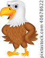 Cartoon eagle posing 40678622