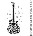 Art guitar, sketch for your design 40678627