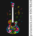 Art guitar, sketch for your design 40678628