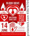 blood donation vector 40678764