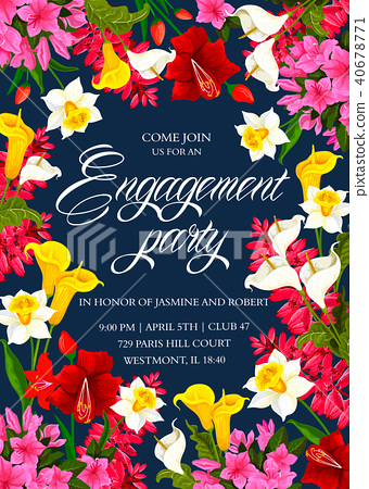 Invitation card for engagement party - Stock Illustration ...