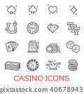 icon, vector, casino 40678943