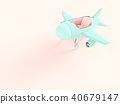 airplane toy blue pastel color 40679147