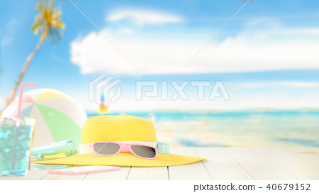 Summer at beach background 40679152
