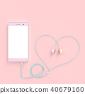 smart phone pastel pink color 40679160