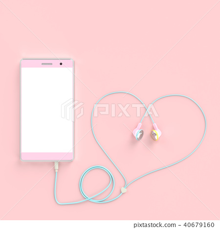 smart phone pastel pink color 40679160