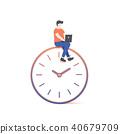 the man working on clock illustration vector 40679709