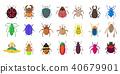 bugs icon set 40679901