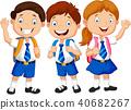 Illustration of school children  40682267