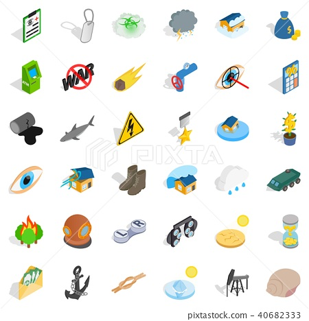 Unbearable icons set, isometric style 40682333