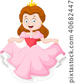 Illustration of cute little princess 40682447