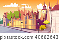 Lodon day cityscape vector cartoon illustration 40682643