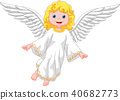 Cartoon angel isolated on white background 40682773