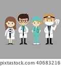 Team doctors workers. 40683216