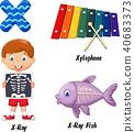 Illustration of x alphabet 40683373