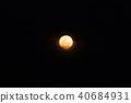 full moon on dark sky 40684931
