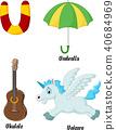 Illustration of U alphabet 40684969