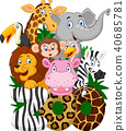 Cartoon collection animal of zoo  40685781