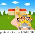 รถบัส,เด็ก,ๆ 40685782