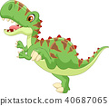 Cartoon Cute tyrannosaurus cartoon 40687065
