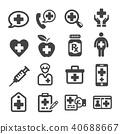 icon, vector, heart 40688667