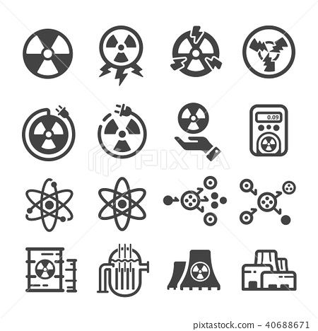 nuclear energy icon 40688671