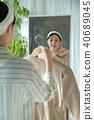 여자, 거울, 옷 40689045