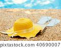 beach, flop, hat 40690007