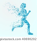 Abstract fitness background. 40690202