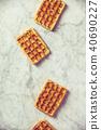 Traditional belgian waffles 40690227
