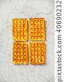 Traditional belgian waffles 40690232