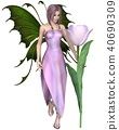Pink Haired Tulip Fairy 40690309