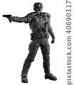 Futuristic Marine Ranger in Urban Camouflage, Aimi 40690317