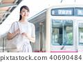 """女商人(通勤)攝影合作""""京王電鐵株式會社"""" 40690484"""