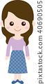 人家庭(婦女/母親)日常穿著 40690505