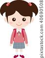 人家庭(女孩,小學)制服 40690508