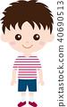 人家庭(男孩和小學生)便衣 40690513